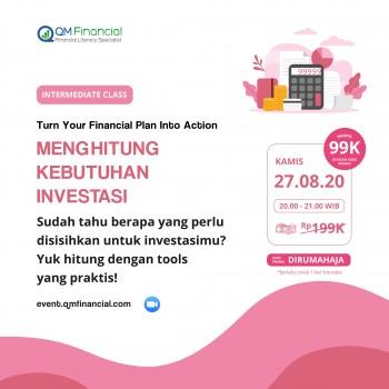 Intermediate Class: Menghitung Kebutuhan Investasi - 27 Agustus 2020