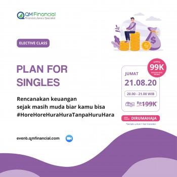 Elective Class: Plan For Singles - 21 Agustus 2020