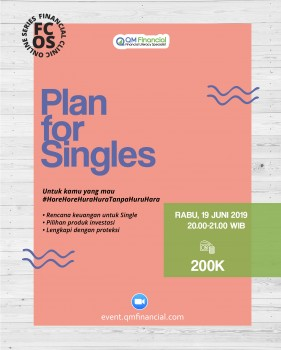 Special Class: Plan for Singles - 19 Juni 2019