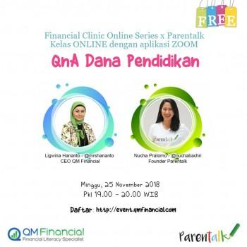 FREE FCOS Dana Liburan - QM Financial X Parentalk