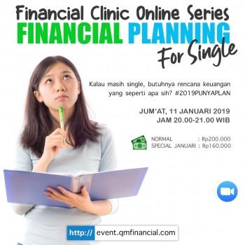 Financial Planning for Single #2019PunyaPlan - 11 Jan