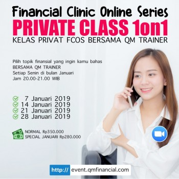 Private Class 1on1 tiap Senin