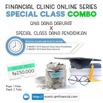 Special Class Combo: Free Class QnA Dana Darurat x Special Class Dana Pendidikan - 8&13 Maret 2019