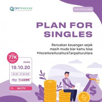 Elective Class: Plan for Singles - 19 Oktober 2020