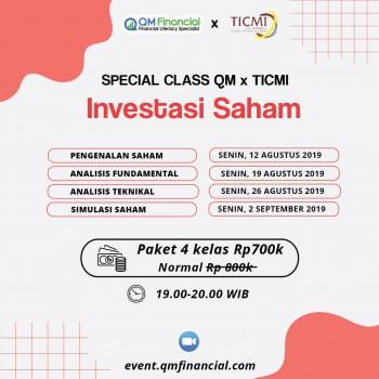Special Class Saham with TICMI - Agustus 2019